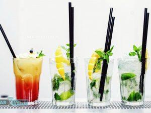 Cztery egzotyczne drinki